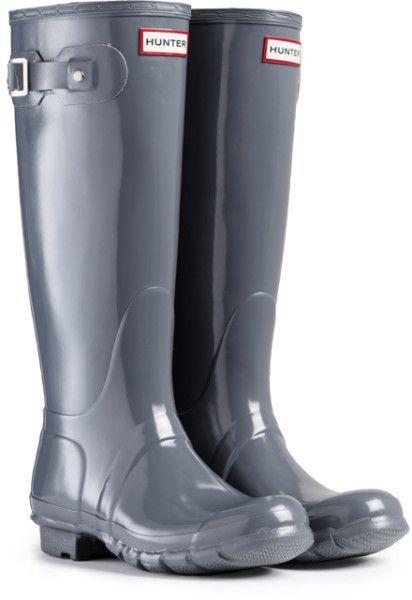 Hunter Original Tall Wellington Boots Womens Waterproof Gloss Shiny Wellies