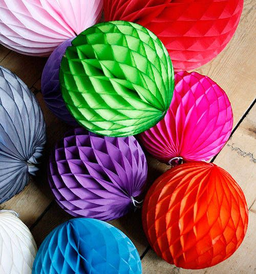 Paper Ball Decorations Paper Luxe Honeycomb Tissue Ball  Paper Balls Honeycombs And