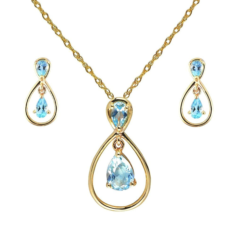 Ivy Gems 9ct White Gold Blue Topaz Tear Drop Earrings ejveyGx