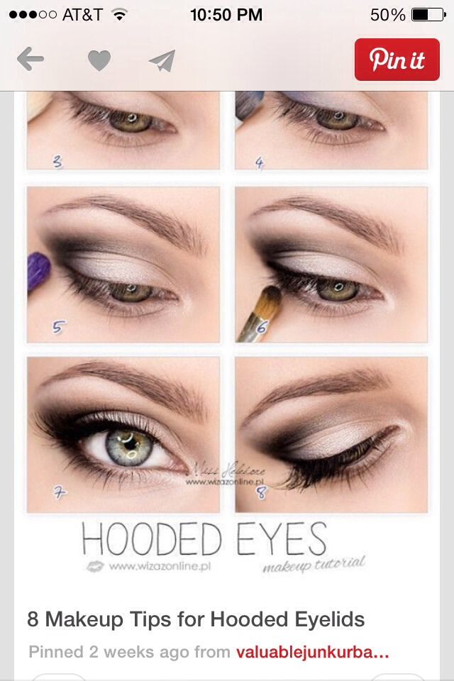 8 Makeup Tips For Hooded Eyelids!! | Beauty | Pinterest | Hooded ...