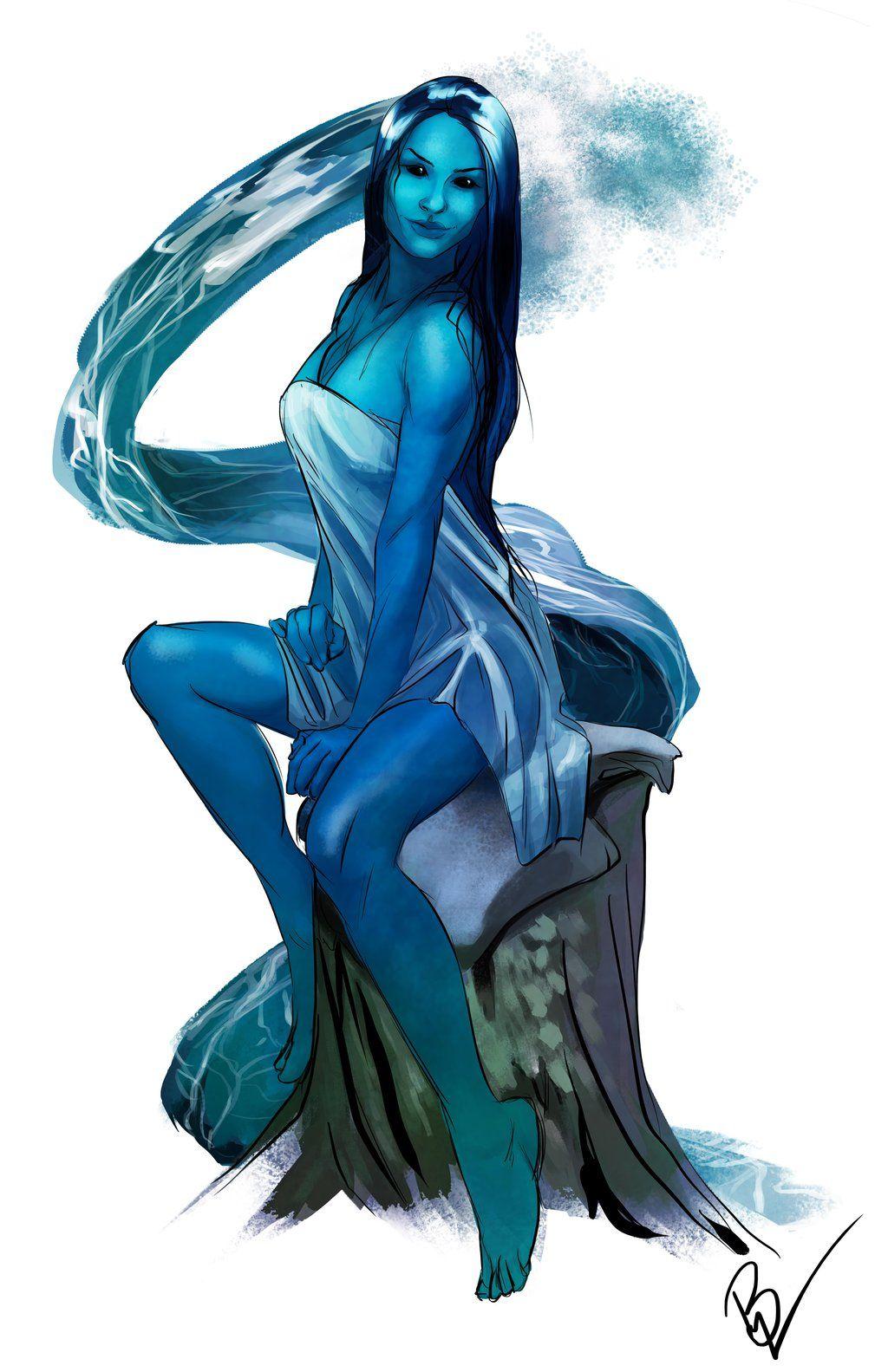 Nereid by KadriyaHilal   Fantasy - Elves, Fae, etc   Creature