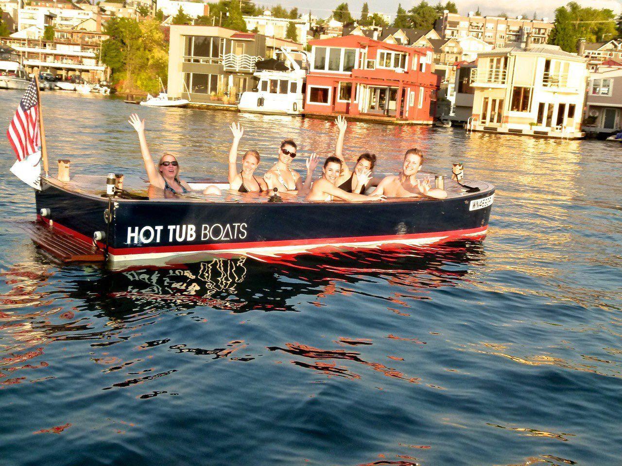 hot tub boats hottubboats houseboats lakeunion lake union then now pinterest tub cool. Black Bedroom Furniture Sets. Home Design Ideas