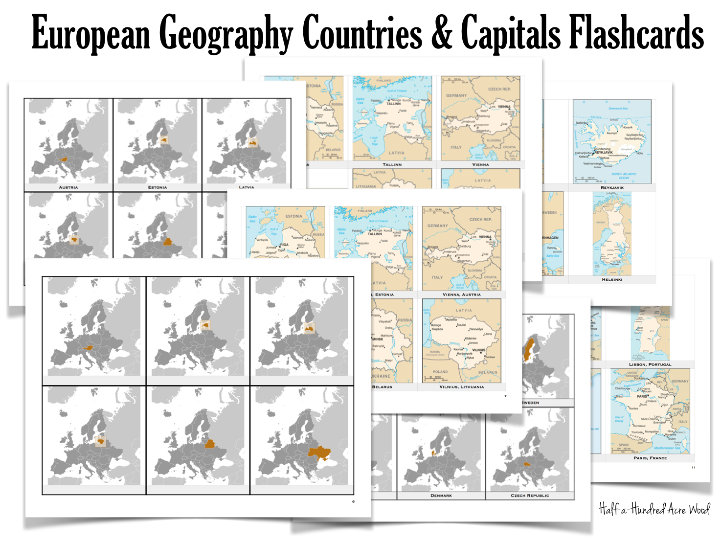 European countries capitals flashcards free printable for european countries capitals flashcards free printable for memorizing the countries and capitals of europe gamestrikefo Gallery