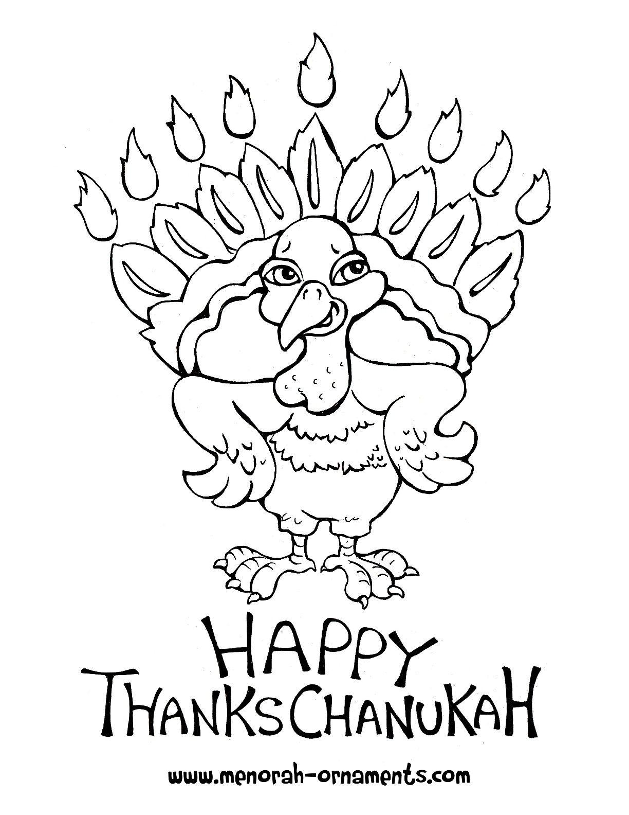 Free Thanksgiving Chanukah Coloring Sheet From