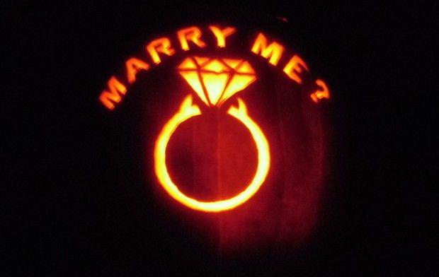 Image result for wedding ring pumpkin carving Clever Pinterest