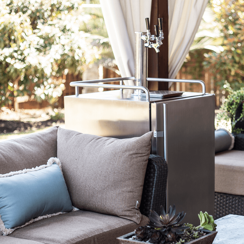 take your kegerator into the great outdoors home reno home decor outdoor chairs on outdoor kitchen kegerator id=15407