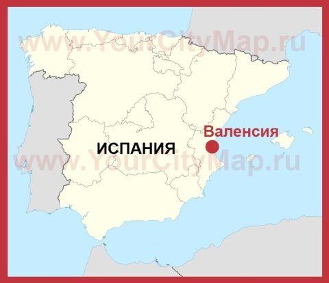 Valensiya Na Karte Ispanii Karta Karty Goroda Alikante