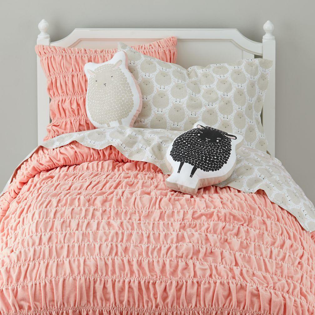 Sheep Throw Pillow (White) The Land of Nod Throw