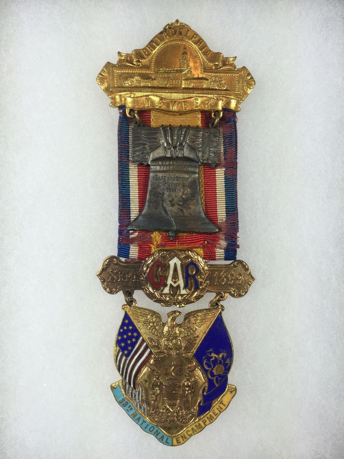 Gar Philadelphia Member Badge 1899 Ultra RARE | eBay
