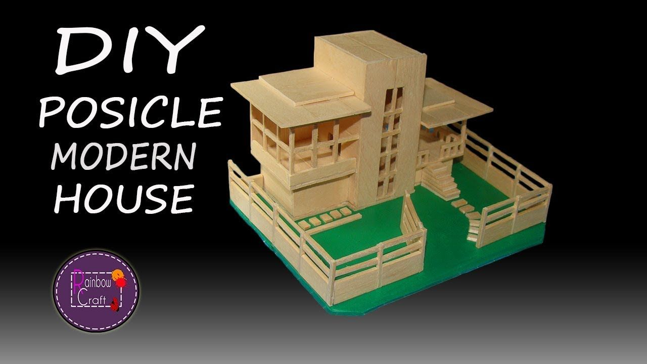 How to make popsicle stick house popsicle modern house