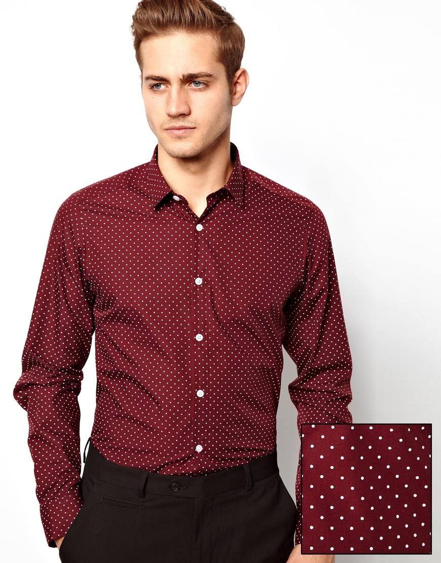 Image of river island purple polka dot shirt fsh pinterest