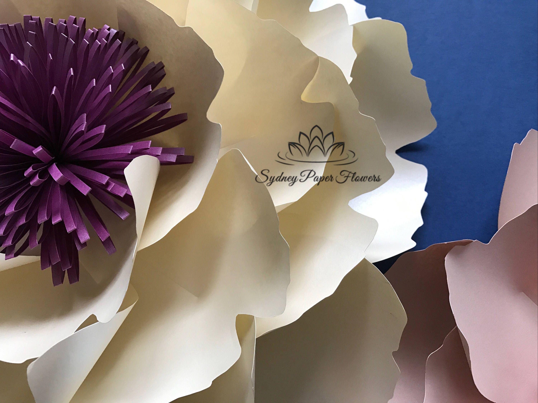 Big Peony Paper Flower Template Video Tutorial Paper Flower