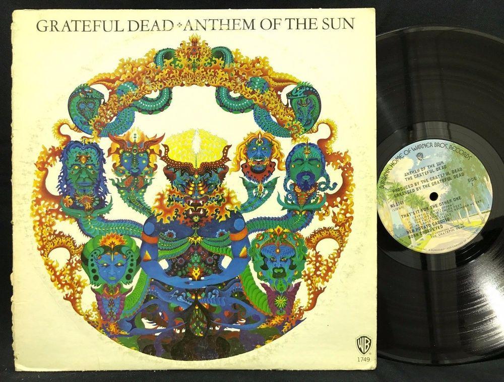 Rare White Album Cover Grateful Dead Anthem Of The Sun Album Lp