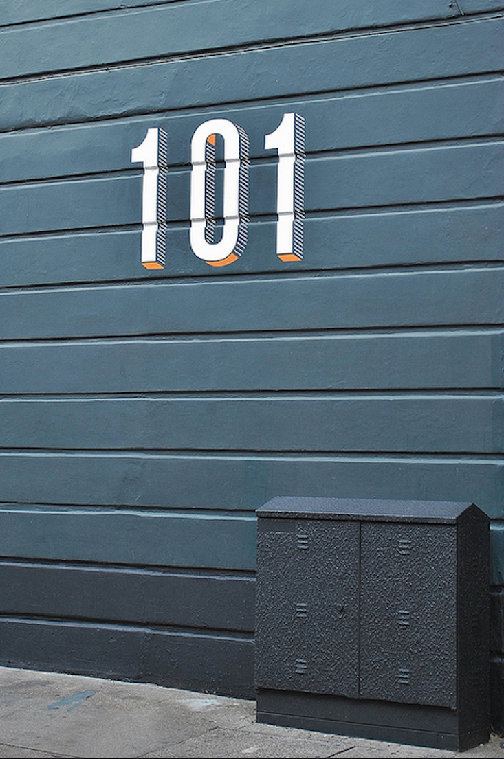 Curb Appeal painted house numbers wwwlab333com