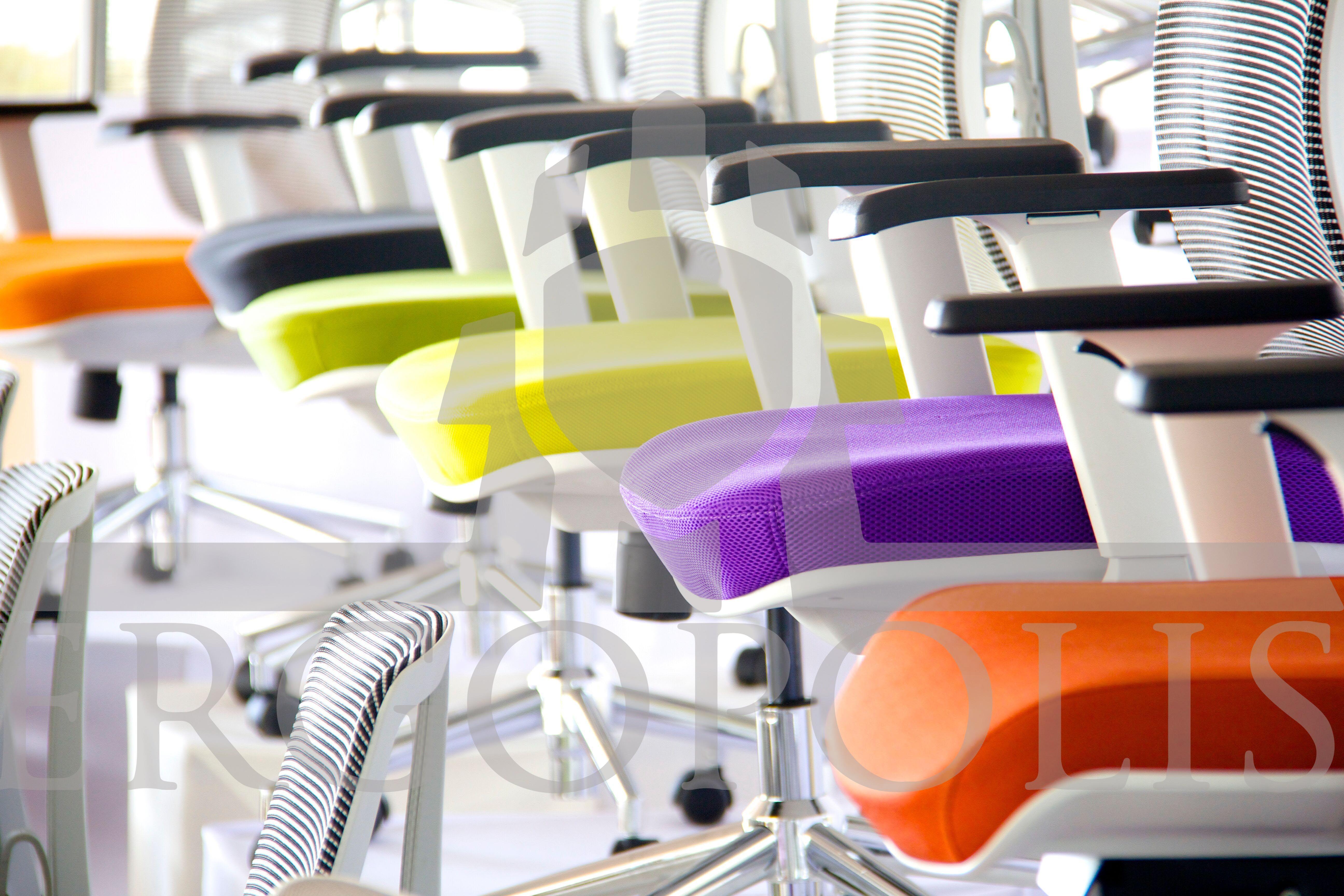 Sillas Amelia Con Asientos Tapizados En Colores Vivos Ergonomia  # Muebles De Oficina Wagner