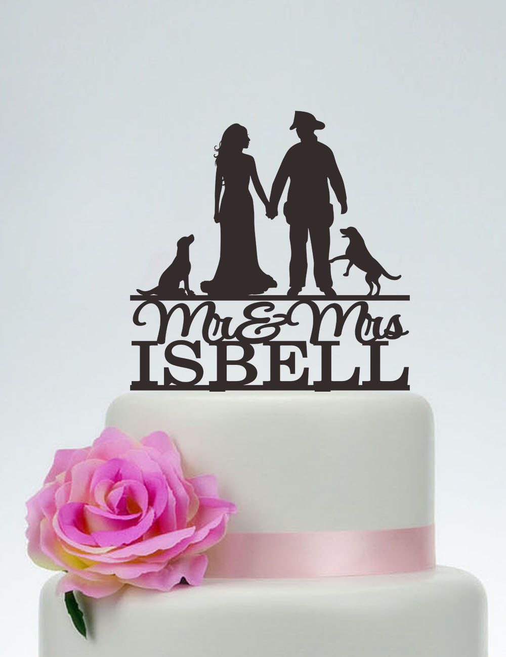 Wedding Cake Topper,Mr and Mrs Cake Topper With Surname,Fireman ...