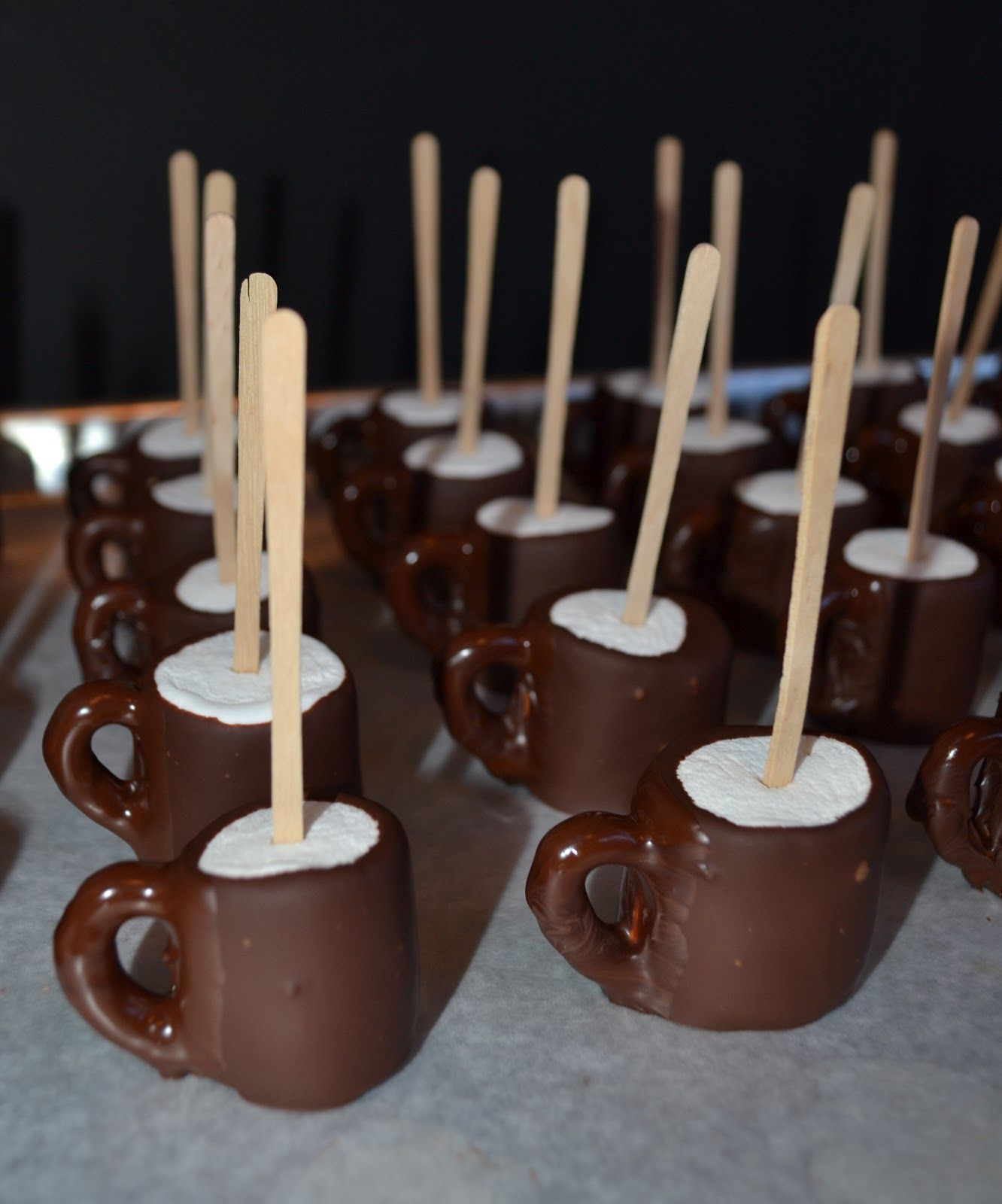 "*Rook No. 17: recipes, crafts & whimsies for spreading joy*: Chocolate Dipped Marshmallow ""Elf"" Mugs ~ A Delightful and Diminutive Holiday Treat"