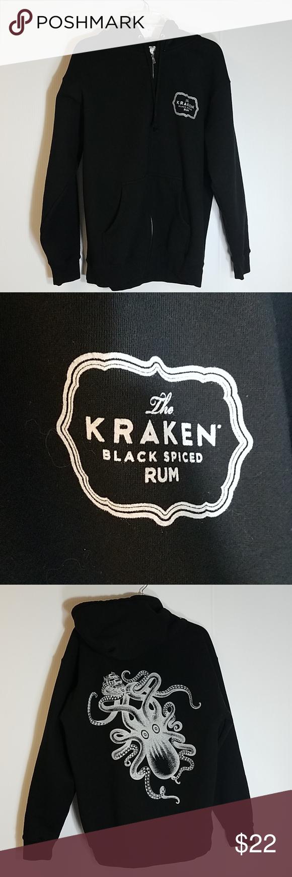 Kraken Rum Black Hoodie Black Hoodie Hoodies Weekend Wear