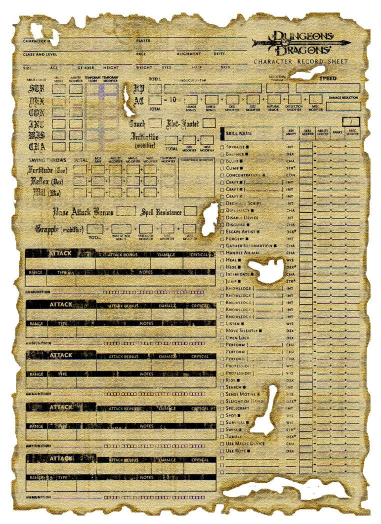 paladium warlock fillable character sheet pdf