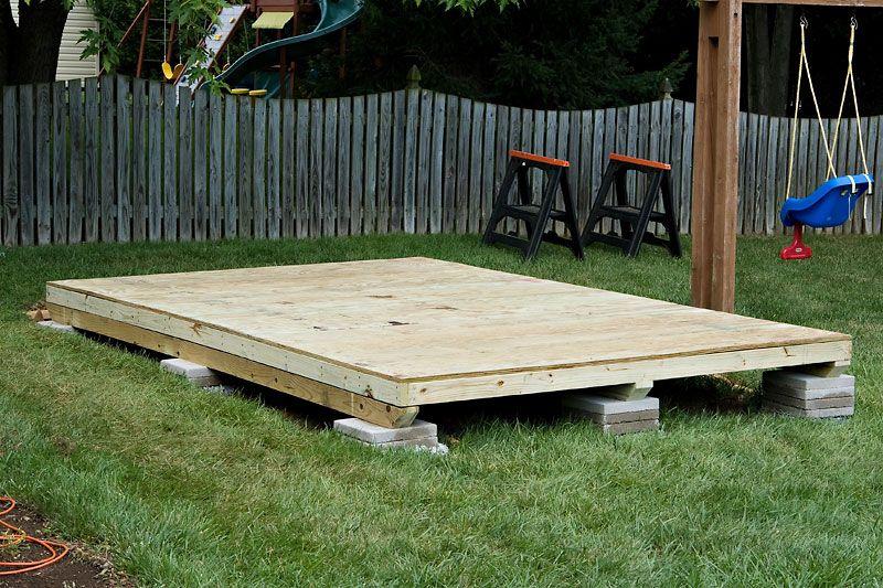 Useful How To Build A Storage Shed Platform Build A Platform For An Outside Storage Shed Building A Storage Shed Diy Shed Plans Shed Plans