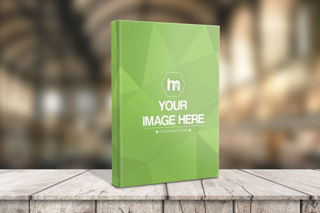 Download Generate A Realistic 3d Preview With Your Book Cover Design Hardcover Book Standing On A Wood Surface And A Mockup Template Mockup Generator Book Cover Design