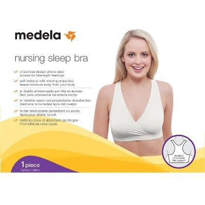 814dbfa7a7ced Medela Maternity Nursing Sleep Bra 2-Pack Value Bundle | Things to give to  Alicia | Sleep nursing bras, Maternity nursing, Bra