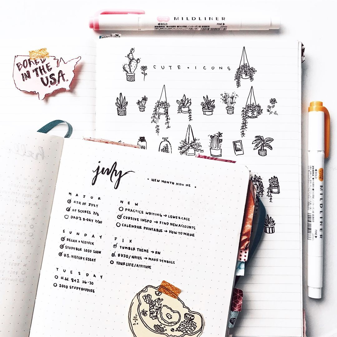Pin by Megan Ma on Bullet Journal Inspiration