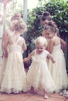 100% authentic d284a 500c8 lunghi vestiti bianchi per le tue damigelle! | Piccole ...