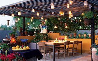 eclairage terrasse terrrasse pinterest coin repas coins et repas. Black Bedroom Furniture Sets. Home Design Ideas