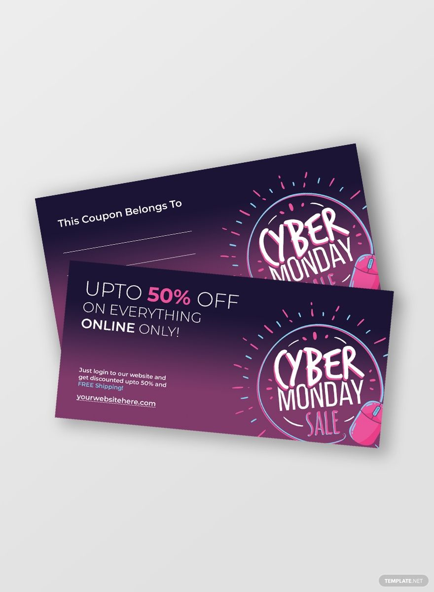 Free Cyber Monday Coupon Template Ad Affiliate Cyber Free Monday Template Coupon In 2020 Coupon Template Cyber Monday Coupon Cyber Monday