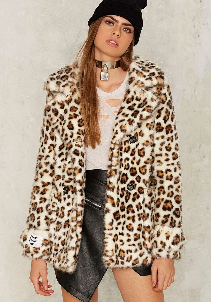 5093d09f Consider these easy Halloween costume ideas you can wear again | Super  Chill Leopard, Jakke Marsha Leopard Coat, $198; at Nasty Gal
