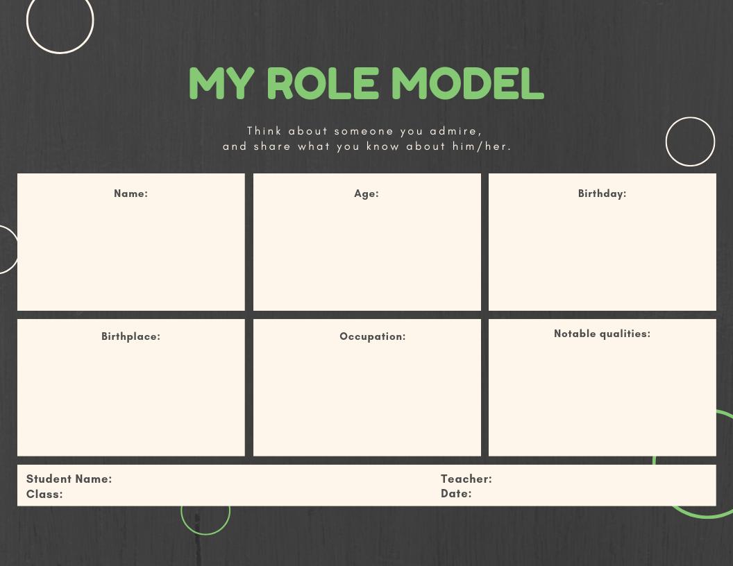My Role Model Graphic Organizer