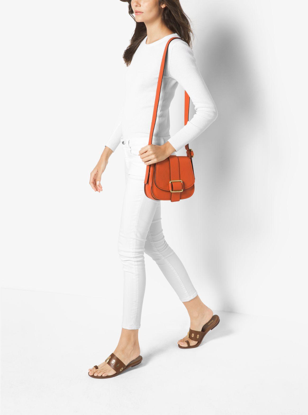ee76495f0e9dd MICHAEL KORS Maxine Medium Leather Saddlebag.  michaelkors  bags  leather   lining  travel bags  weekend  polyester