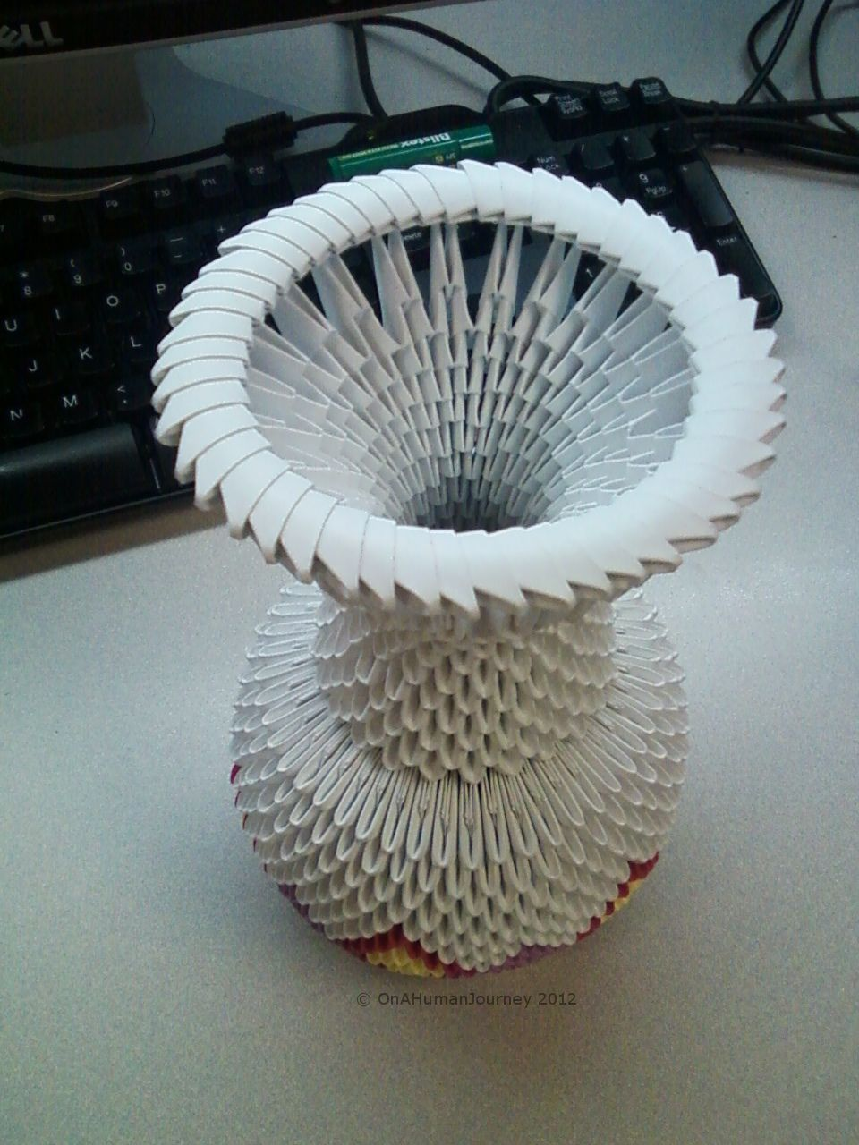How To Build A 3d Origami Vase 3d Origami Pinterest 3d Origami