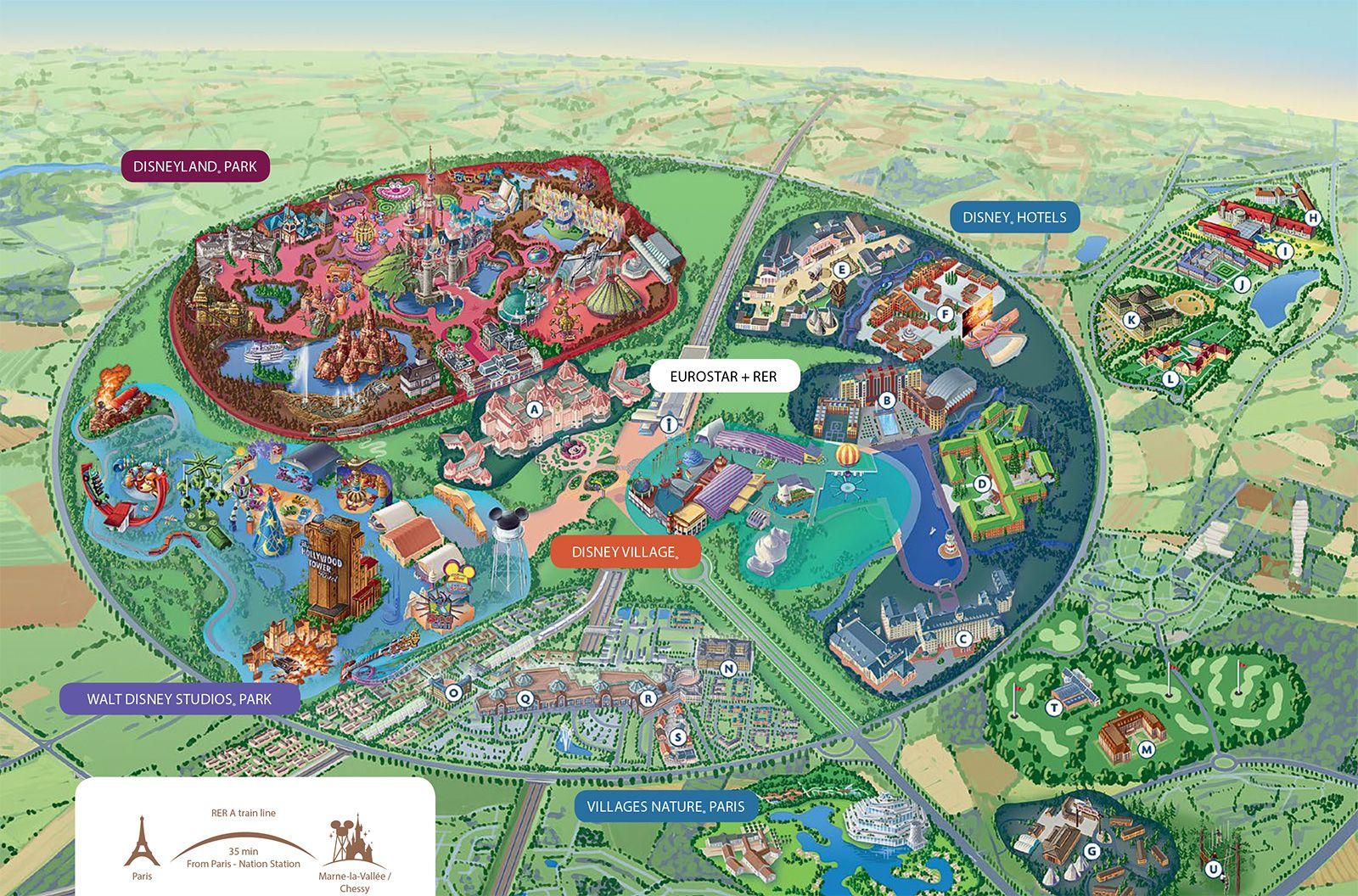 Disneyland Paris Map Disneyland paris, Disney map
