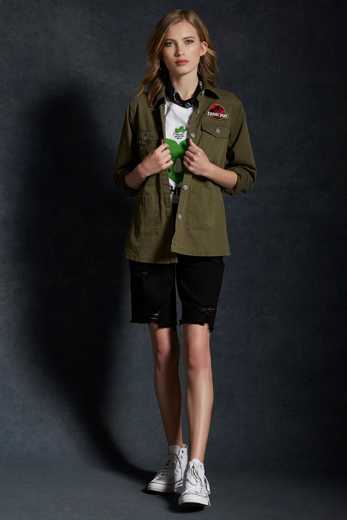 ac9ac05cd4bdc A fashion collection 65 million years in the making    Jurassic Park  Destructed Girls Staff Jacket