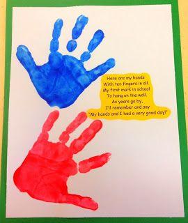 Preschool Ideas For 2 Year Olds First Day Of Preschool School Hand