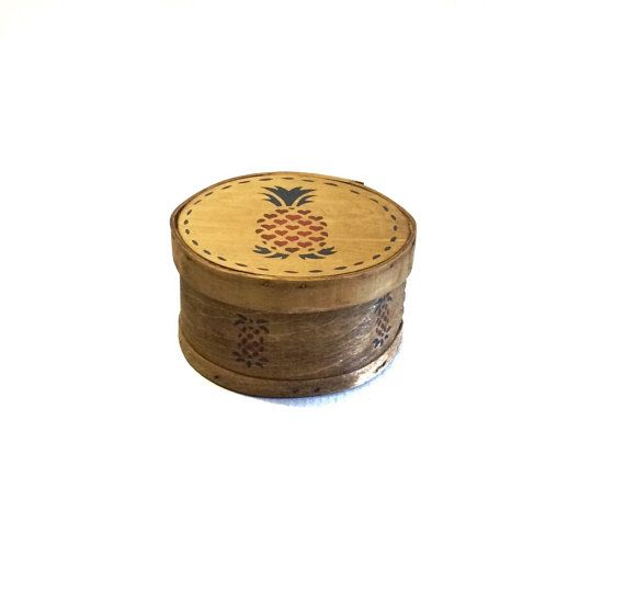 Vintage Wooden Pantry Box Cheese Box