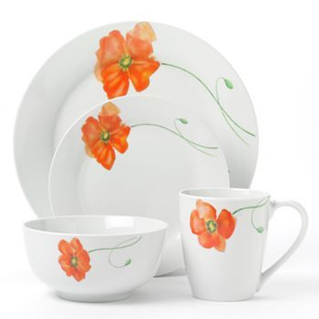 Corsica Poppy 16-pc. Dinnerware Set - getting these for Christmas. Will look  sc 1 st  Pinterest & Corsica Poppy 16-pc. Dinnerware Set Multicolor | Dinnerware ...