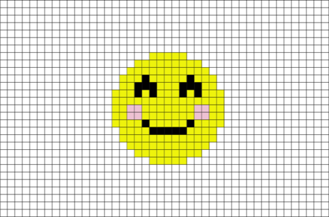 Smiling Face With Smiling Eyes Emoji Pixel Art Pixel Art