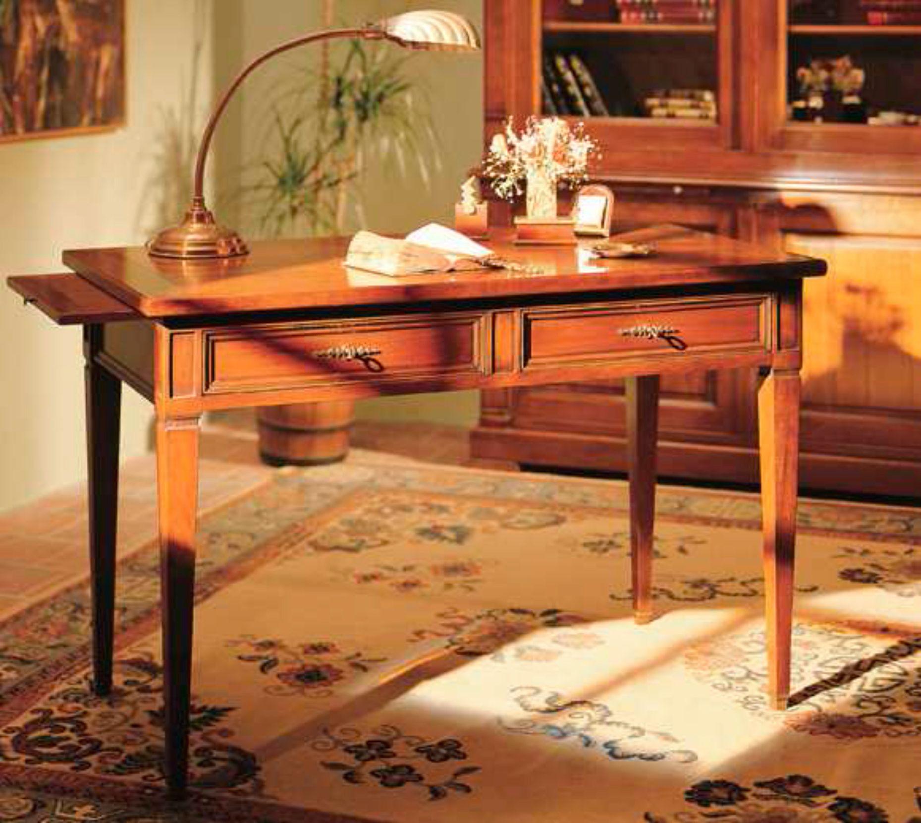 Table Crire En Bois Massif De Style Directoire Avec 2 Tiroirs  # Meubles Enbois Massifs Fabricants