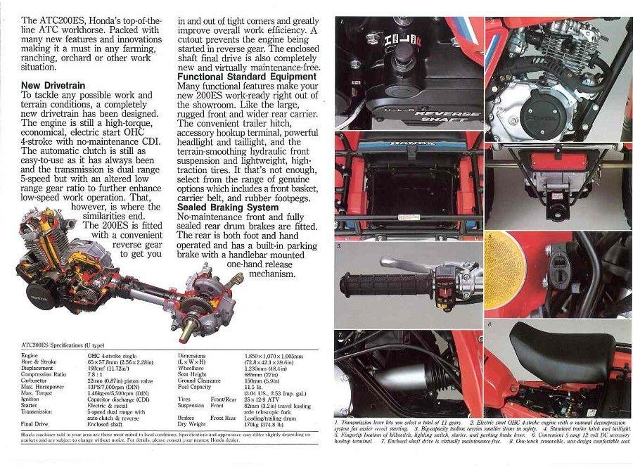 Honda ATC ATV 3 Wheeler, Quad, TRX, FL Odyssey U0026 Pilot NOS OEM Parts   Honda  ATC200/E/ES/M/S
