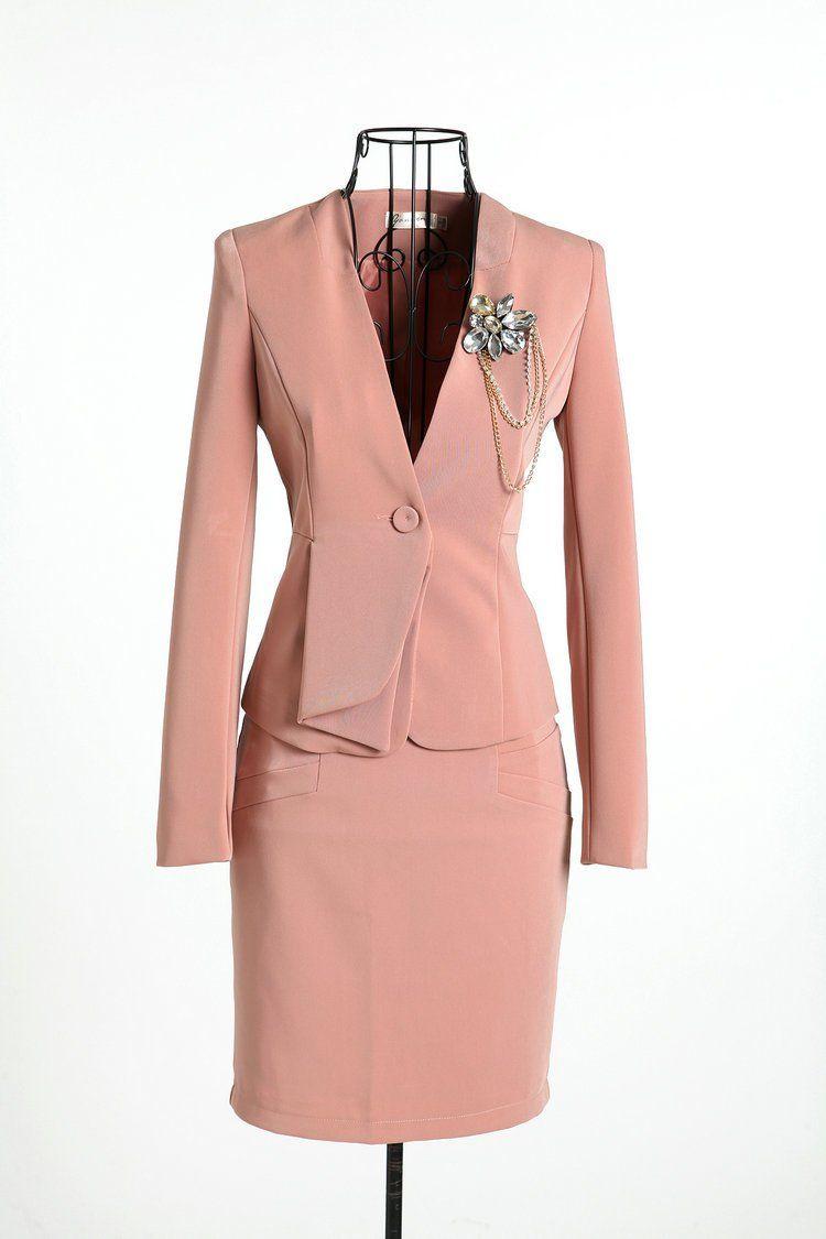 Cheap 2014 nuevas mujeres el juego formal de chaqueta con falda para ...