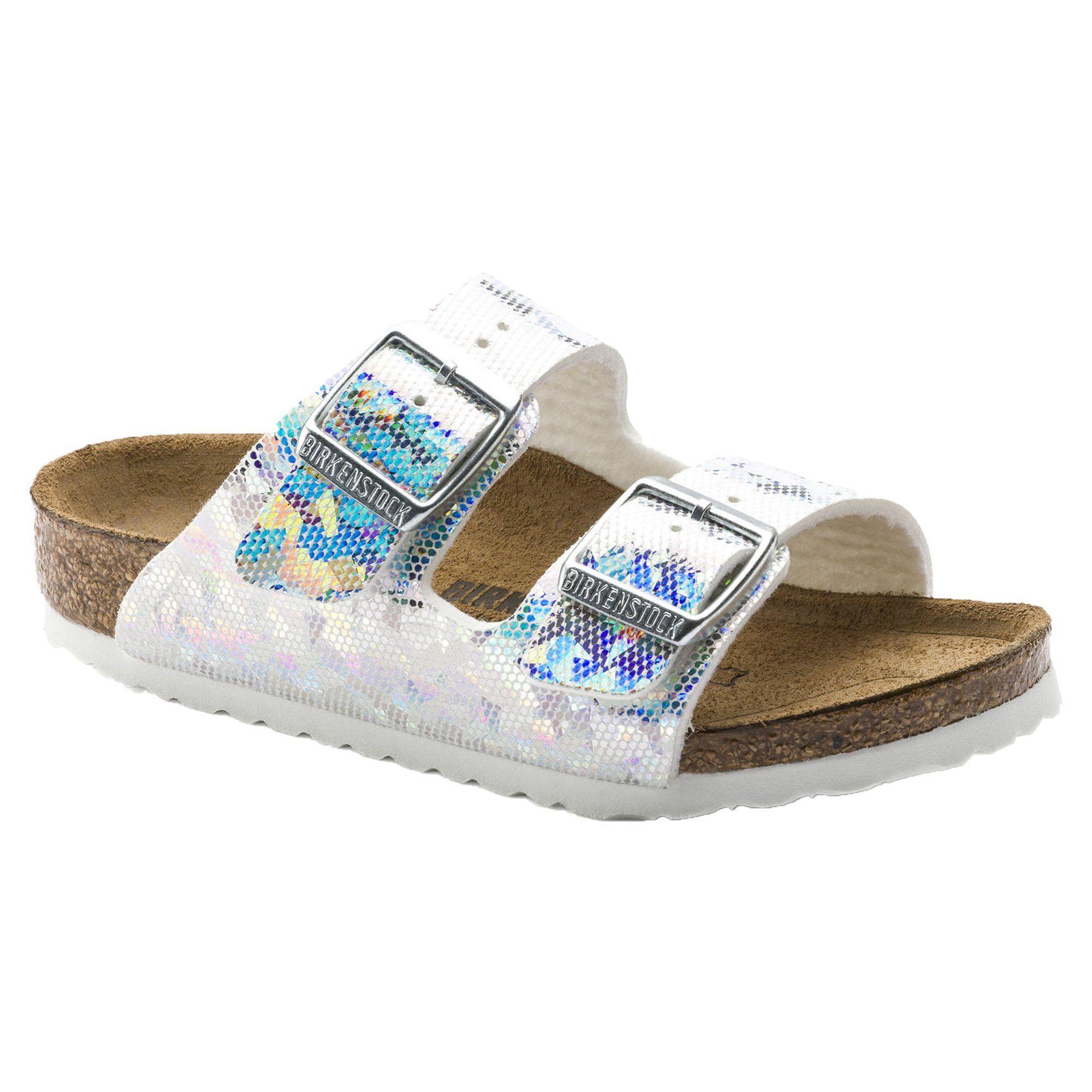 73698b43a0b Birkenstock Arizona Hologram Silver Kids Sandals (N) Sandales Enfants