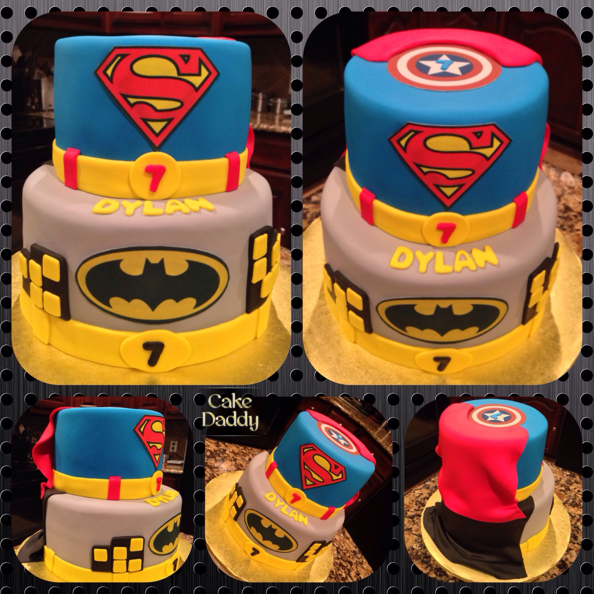Captain America Kuchen Superman Kuchen