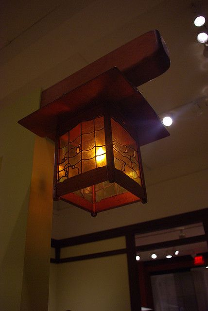 Greene and Greene Lamp by selkie30, via Flickr