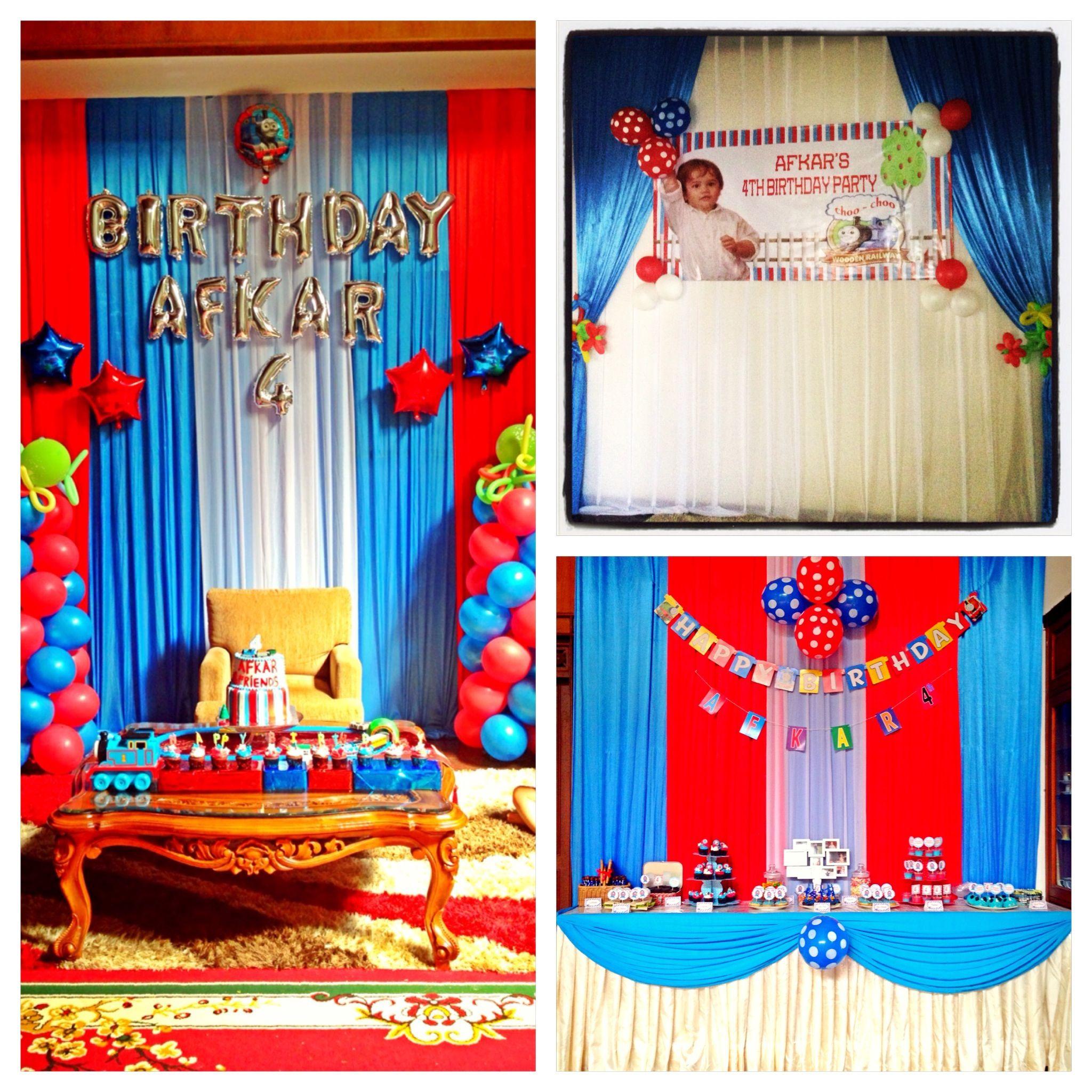 Decoration birthday party thomas and friend Birthday