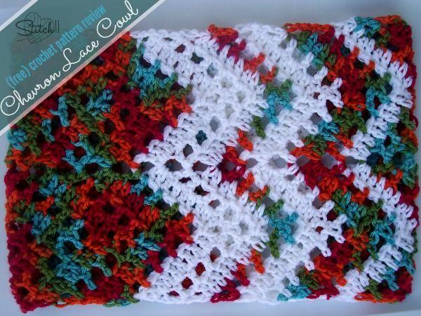 Chevron Lace Cowl – (free) pattern review   Crochet   Pinterest ...