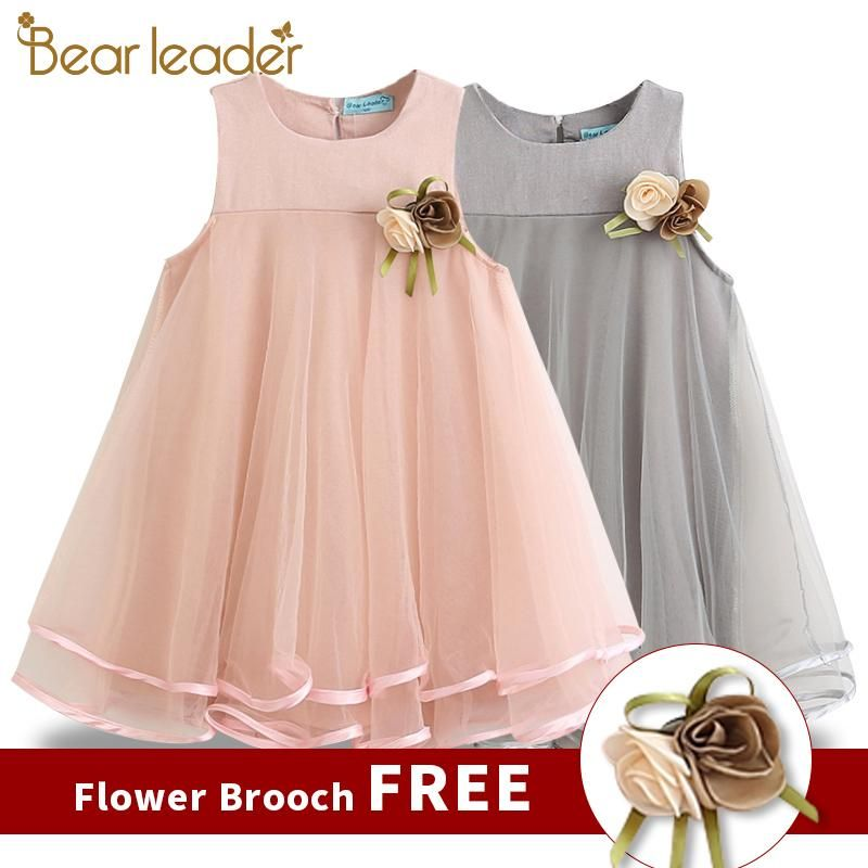 Bear Leader Girls Dress 2019 Brand Princess Dress Sleeveless Appliques Floral Design For Girls C Vestidos Infantis Padroes De Vestido De Bebe Vestido De Menina