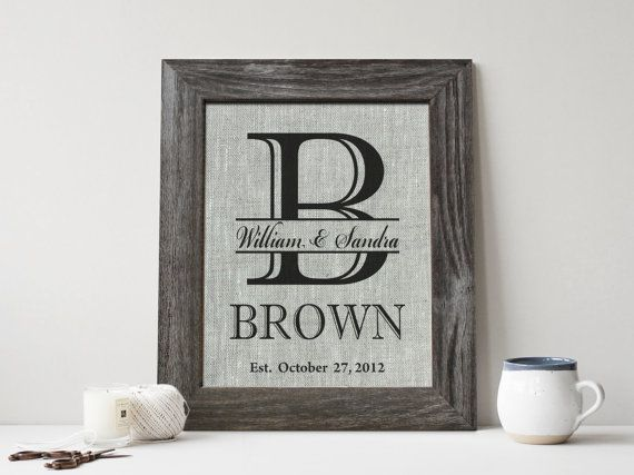 Fourth Wedding Anniversary Print On Linen 4 Years Together Gift